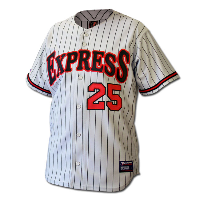 d260e9517 01101-5 Polyester baseball jerseys with woven pin-stripes