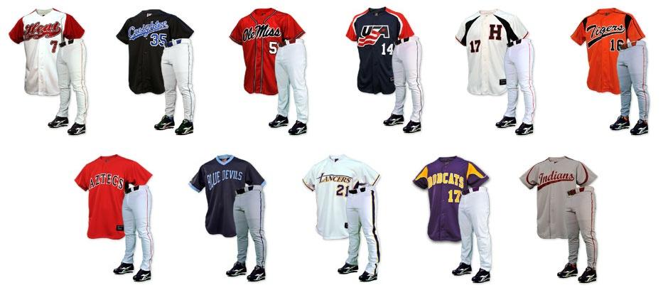 Complete Baseball Uniforms  df941098c